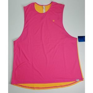 NWT Champion Women's Mesh Muscle Tank Pink XL